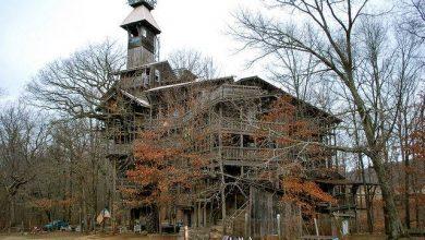 Photo of عجیبترین خانه های آمریکا: خانه Minister's Tree House